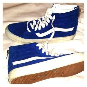 Blue suade Vans